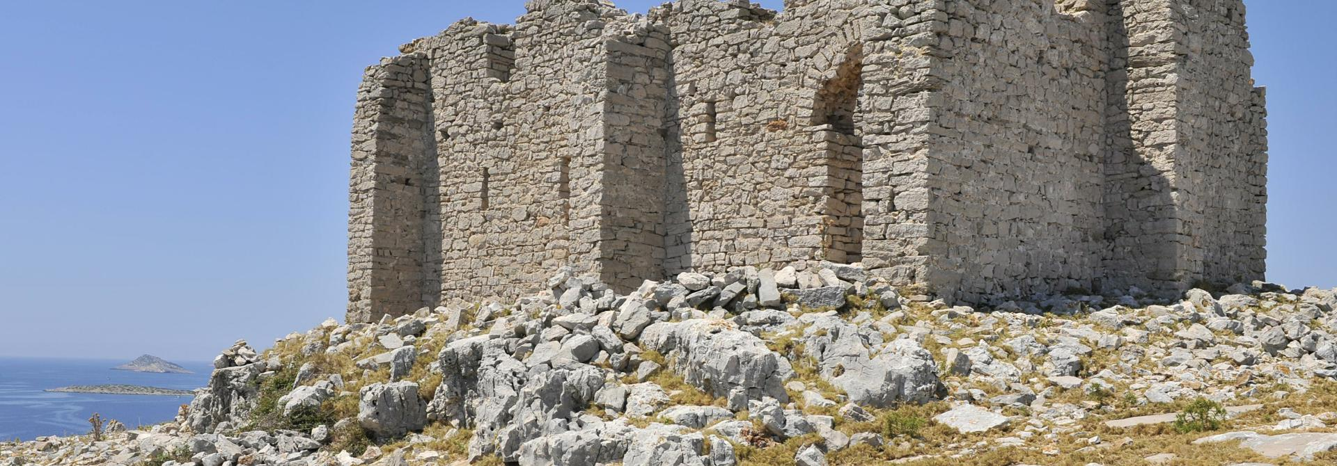 Tureta - Kornati-The small Byzantine fort in the Kornati Archipelago was probably a part of the fortified monastery, and was built as a component of the emperor Justinian's defensive system. (Photo: Damil Kalogjera)